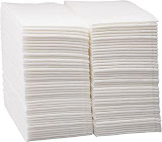 Luxury Linen Feel Disposable Guest Hand Towels Soft & Absorbent Cloth Like Airlaid Paper Napkin for Bathroom, Kitchen, Weddings, Parties, Dinners or Events, White 100 Count by eDayDeal (100)