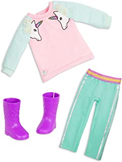 Glitter Girls Dolls by Battat – Unicorn Dreaming Fashion Outfit (Pink) – 14-inch Doll Clothes and Accessories for Kids Age...