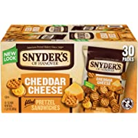 30 Count Snyder's of Hanover Cheddar Cheese Pretzel Sandwiches