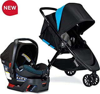 BRITAX B-Lively Travel System with B-Safe Ultra Infant Car Seat, Cool Flow Collection, Teal - Birth to 55 pounds