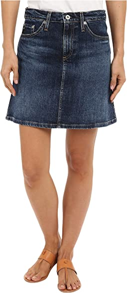 The Ali A-Line Mini Denim Skirt in Indigo