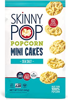 Sponsored Ad - SkinnyPop Sea Salt Popcorn Cakes, Healthy Snacks, 5oz (Pack of 12)