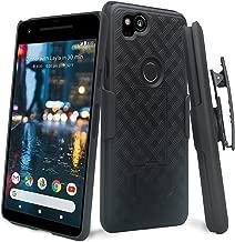 Google Pixel 2 XL Case, Swivel Slim Belt Clip Holster Protective Case, Defender Cover with Swivel Locking Belt Clip [Kickstand] for Google Pixel 2 XL (Holster Shell Combo) - Black