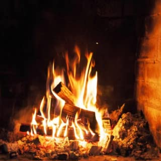 Winter Fireplace Burning,  Crackling Fire Sounds & Relaxing Music
