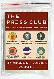 37 Micron | Premium Nylon Tea Filter Press Screen Bags | 2.5