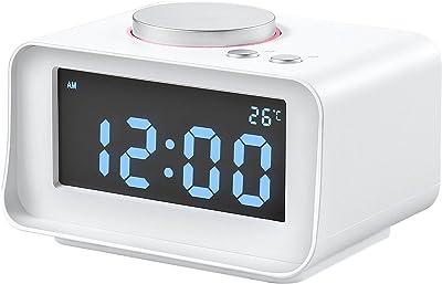 ZZG Creative Digital Alarm Clock Reloj Electrónico Multifunción Pantalla De Temperatura De Carga USB Dual Modo