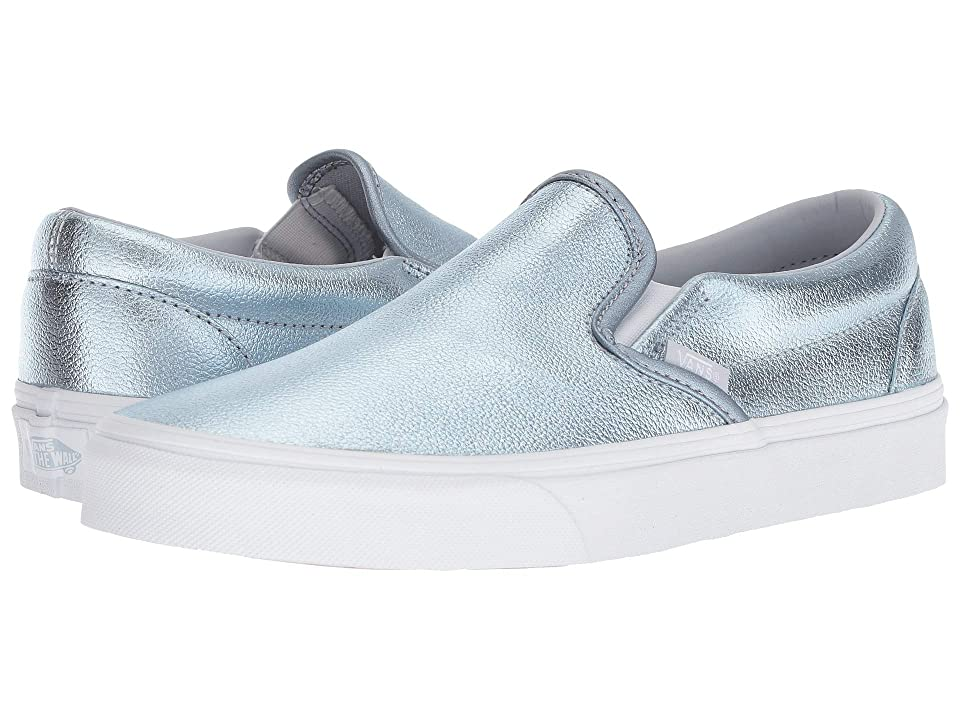 Vans Classic Slip-Ontm ((Metallic) Gray Dawn/True White) Skate Shoes