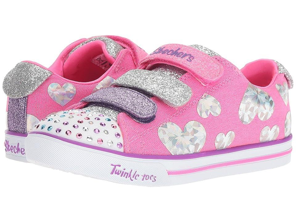SKECHERS KIDS Twinkle Toes Sparkle Lite 20051L (Little Kid/Big Kid) (Hot Pink/Multi) Girl