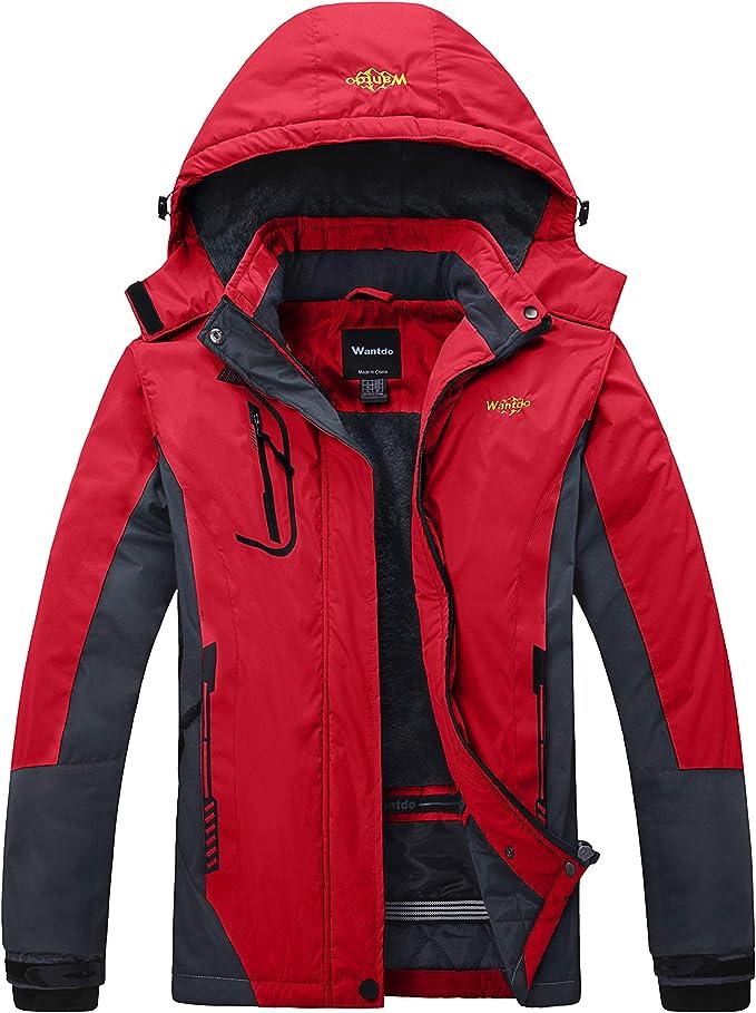 503 opinioni per Wantdo Giacca da Sci Montagna Invernale Parka da Neve Caldo con Cappuccio