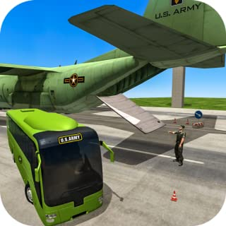 US Army Bus Driver Plane Transport Game