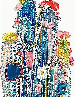 WJGJ Peinture par Numéro Kit, DIY Peinture à l'huile sur Toile pour Adultes Débutant, Kit de Peinture par numéro à Faire s...