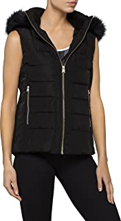 Calvin Klein Women's Faux Fur Trim Hood Puffer Vest