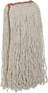 Rubbermaid Commercial FGF51800WH00 Premium 8-Ply Cut-End Blend Mop, 24-ounce, 1-inch Orange Headband, White