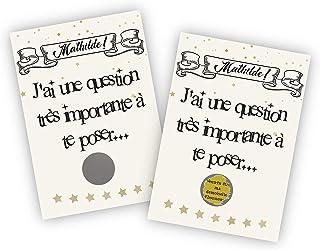Carte à gratter personnalisable - Demande originale future demoiselle d'honneur ou témoin de mariage