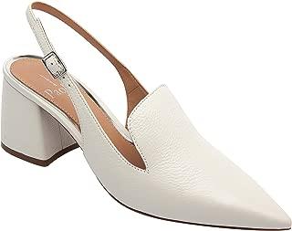 Carly - Women's Pointy Toe Block Heel Leather Slingback