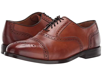 Cole Haan Kneeland Brogue Cap Toe Oxford (British Tan) Men