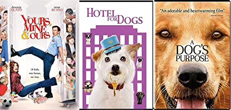 Soulful Family Dog's Purpose DVD Hotel for Dogs + Ours, Yours & Mine Comedy 3 Movies