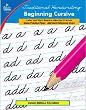 Carson Dellosa Beginning Cursive Workbook Grades 2-5— Letters, Words, Numbers, and Calendar Dates Handwriting Practice for...
