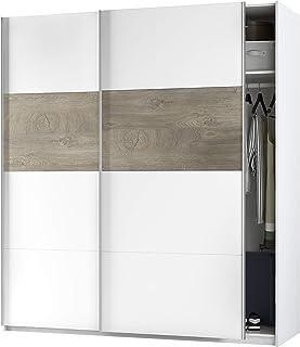 Habitdesign ARM182A - Armario 2 Puertas Correderas para Dormitorio o Habitación Modelo Aikos Acabado en Blanco Artik y R...
