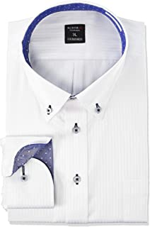 [アトリエサンロクゴ] ワイシャツ メンズ 形態安定 長袖Yシャツ ビジネスシャツ sun-ml-wd-1130