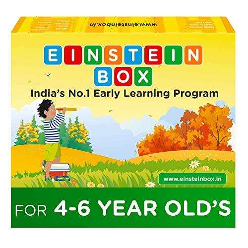 Einstein Box for 4, 5 and 6 Year Old Baby Boys and Girls, Learning and Educational Gift Pack of Toys, Games and Books (Multicolor)
