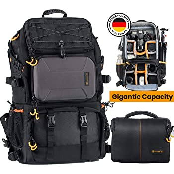 Camera Camera Backpack Waterproof Camera Bag Large Capacity self-contained Earphone Jack Large Capacity can accommodate 15.6-inch Notebook