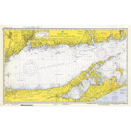 Hudson and East Rivers 1972 New York Harbor Lower Manhattan Vintage Shore Maps Maritime Soundings Map