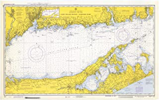 Map - Long Island Sound Eastern Part, 1972 Nautical NOAA Chart - Connecticut, New York (CT, NY) - Vintage Wall Art - 24in x 16in