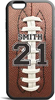 CodeiCases iPhone 5C Football Case With Custom Name And Number, Football Custom Case, Cover Rubber Black Football iPhone Case
