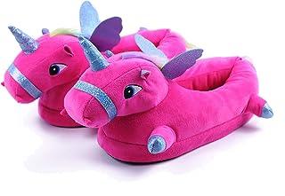 Lovelysi 3D Nuevo Zapatillas De Estar por Casa,LED Unicornio Luz Felpa Suave Respirable Calentar Zapatillas Mujer Hombre N...
