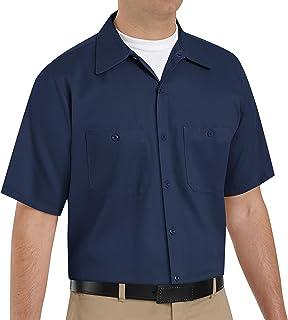 Red Kap Men's Short Sleeve Wrinkle-Resistant Cotton WorkShirt
