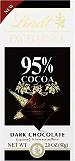 Lindt EXCELLENCE 95% Cocoa Chocolate bar, 2.8 Ounce (Pack of 12)