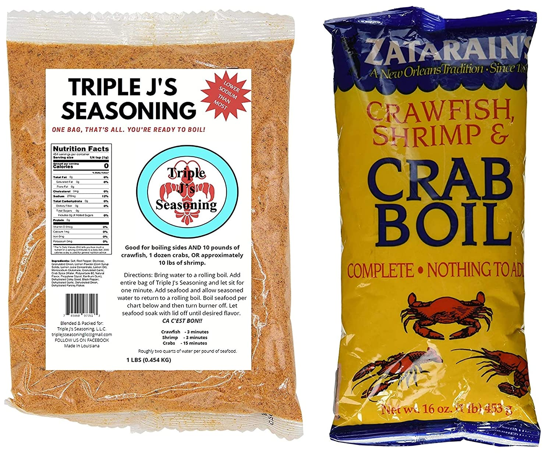 Louisiana Crawfish Shrimp and Ranking TOP3 Crab Bundle Shipping included Sampler Seafood Boil