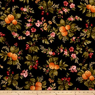 Maywood Studio A Fruitful Life Fruitful Floral Black, Fabric by the Yard