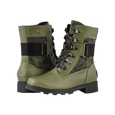 SOREL Kids Emelietm Conquest (Little Kid/Big Kid) (Hiker Green/Black) Girls Shoes