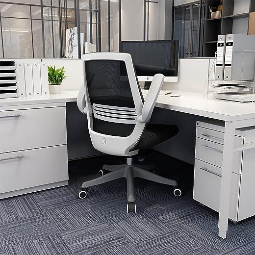 SIHOO Moderner ergonomischer Bürostuhl, Schreibtischstuhl, atmungsaktiver Kompaktstuhl, Taillenstütze, anhebbare und umkehrbare Armlehne, leise…