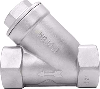 Maxmartt 304 Stainless Steel Hex Split Check Valve High Temperature/&Pressure Endurance 1//2in BSPP
