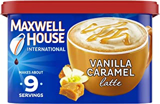 Maxwell House International Vanilla Caramel Latte Café-Style Instant Coffee Beverage Mix, 8.7 oz. Canister