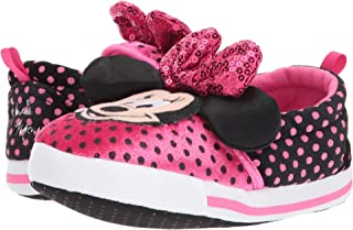 Disney Minnie Mouse Girls Slippers Toddler/Little Kid Dual Sizes Pink