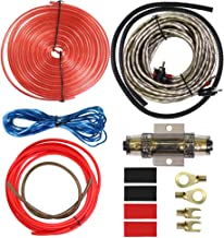 8 Gauge Car Amp Wiring Kit - Welugnal Amp Power Wire Amplifier Installation Wiring Wire Kit, Power, Ground, Remote Cable, RCA Cable,Speaker Wire, Split Loom Tubing Fuse Holder Subwoofers Wiring kit