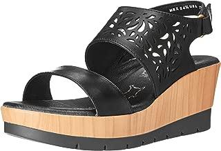 BELANOVA Women's Genuine Leather Slip-on Wedge Sandals