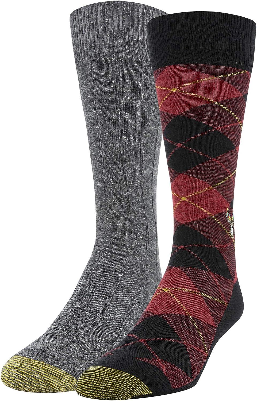 Gold Toe mens Holiday Novelty Dress Crew Socks, 2 Pairs