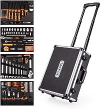 Caja de herramientas Pull Rod, un juego completo de caja de herramientas de 177 piezas, caja de aluminio multifunción CR-V: martillo, destornillador, alicates, funda-HHK5B.