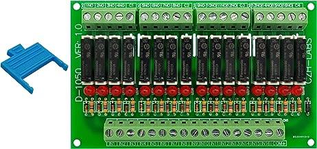 Electronics-Salon Slim Panel Mount DC24V Sink/NPN 16 SPST-NO 5A Power Relay Module, APAN3124