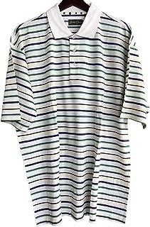 Bobby Chan Men's Silk & Cotton Blend Knit Polo Golf Shirt