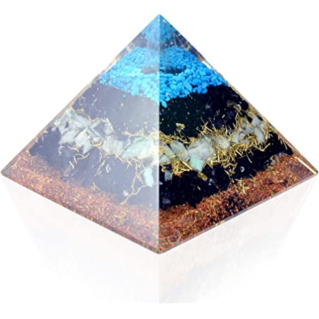 3rd Eye Chakra Orgone generator\u00ae Medium Orgonite\u00ae Pyramid Chakra Series with Amethyst