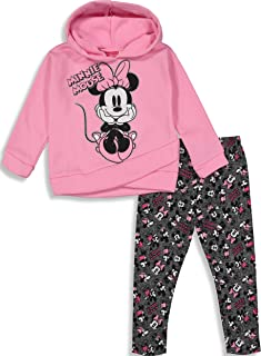 d149dc08d2f1d Disney Girls' Minnie Mouse 2-Piece Fleece Hoodie and Leggings Clothing Set