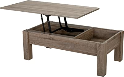Christopher Knight Home Lift Single Top Functional Coffee Table, Dark Sonoma