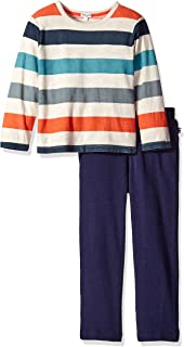 Splendid Boys' Long Sleeve Reverse Print Top with Pant Set