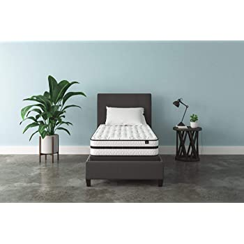 Signature Design by Ashley - 10 Inch Chime Express Hybrid Innerspring - Firm Mattress - Bed in a Box - Twin - White -